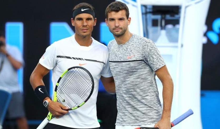 Grigor Dimirov and Rafael Nadal