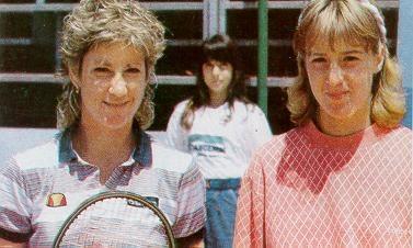Крис Евърт и Мануела Малеева Italian Open 1984